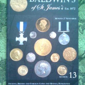 """Каталог монет, орденов и медалей """"BALDWIN'S"""" (Великобритания), 2017 г. (152 стр.)"""