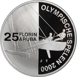 """Аруба 25 флоринов 2000 г., PROOF, """"Олимпийские Игры, Сидней 2000"""""""