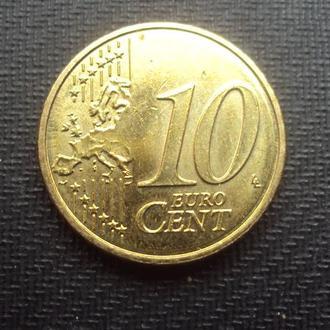 Нидерланды 10 евроцентов 2018г.
