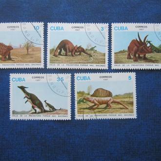 5 марок Куба 1987 динозавры