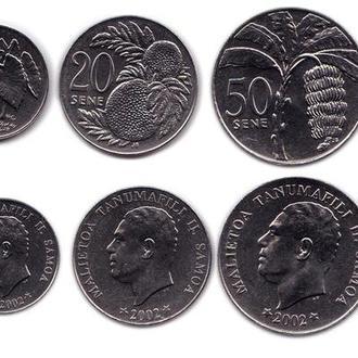Самоа набор 5, 10, 20, 50 сене и 1 тала 2002 UNC