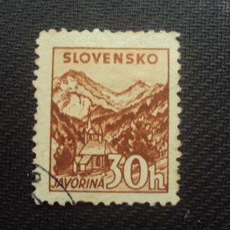 Словакия 1940г. зуб. 10 1/2.