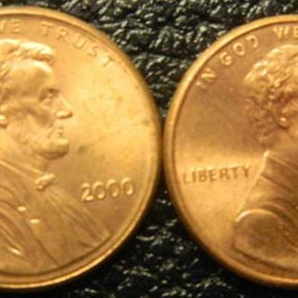 1 цент 2000 США (два різновиди)