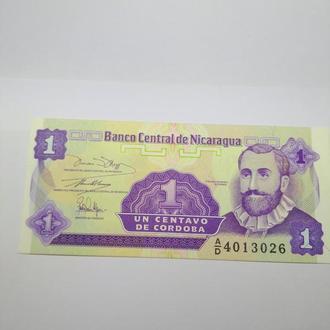 1 сентаво, Никарагуа, Пресс, unc, оригинал