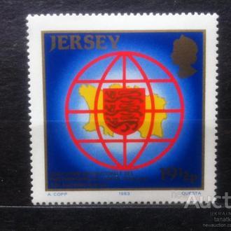 Джерсей 1983 одиночка герб**