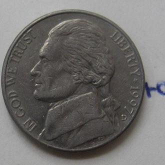 "США, 5 центов 1997 г. ""D""."