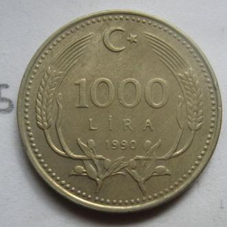 Турция 1000 лир 1990 года