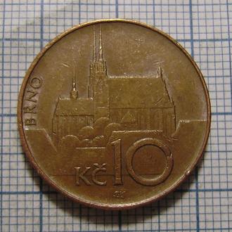 Чехия, 10 крон 1996 г. Собор в Брно