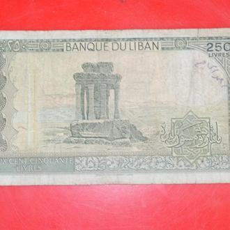 250 ливров 1988 г Ливан