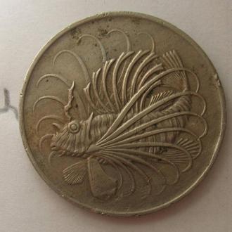 СИНГАПУР, 50 центов 1974 г. (ТРОПИЧЕСКАЯ РЫБА).