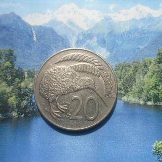 Новая Зеландия 20центов 1989г
