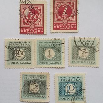 Не почтовые марки Хорватия 7 шт