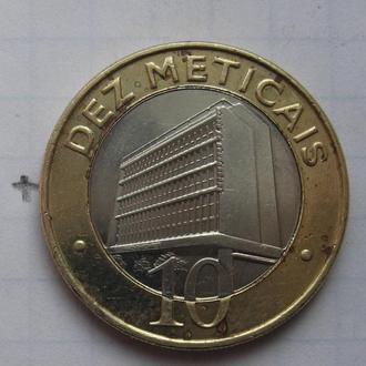 МОЗАМБИК, 10 метикас 2006 года (биметалл).
