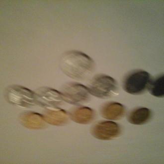 2009 год 13 монет, 25 копеек х 1 штука, 10 копеек х 5 штук, 2 копейки х 7 штук