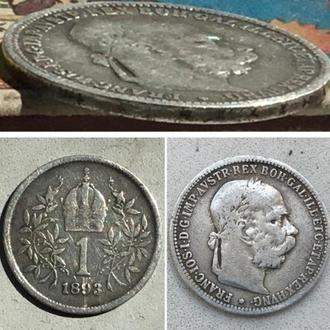 Австрия 1 крона, 1893 г. Правитель Франц Иосиф I