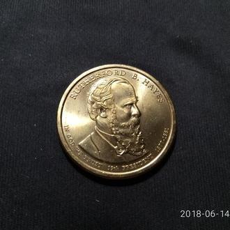США 1 доллар 2011 19-президент Р.Хейз UNC!