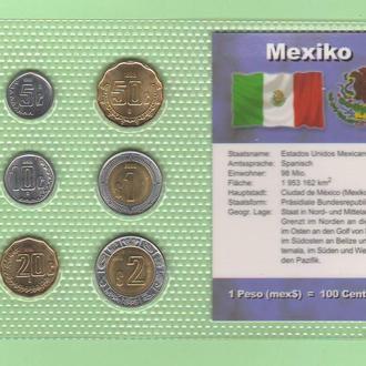 Набор монет МЕКСИКА блистер запайка пластик