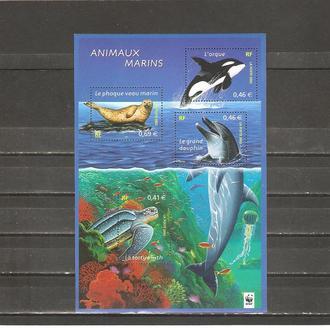 Фауна  Франция  2002г. MNH