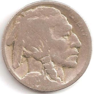 Монета 5 центов (США) 1920 Бизон (Индеец) (3)