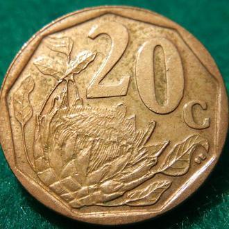 20 центов ЮАР 2008