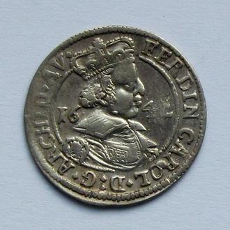3 крейцера 1642 г. Фердинанд Карл Австрийский Габсбург , Тироль