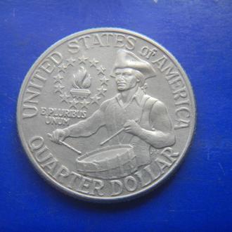 США 25 центов 1976