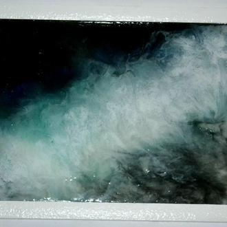 """Картина """"Туман"""" в технике Resin Art"""