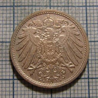 Германия, 10 пфеннигов 1908 г. (А)