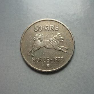 Норвегия 50 эре 1972 фауна