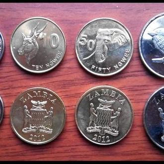 ЗАМБИЯ 2012г.- набор монет 4 шт UNC