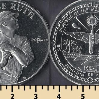 Маршалловы острова 5 долларов 1998