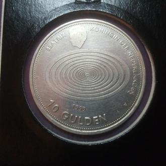 Нидерланды 10 гульденов, 1999 Милленниум (серебро)