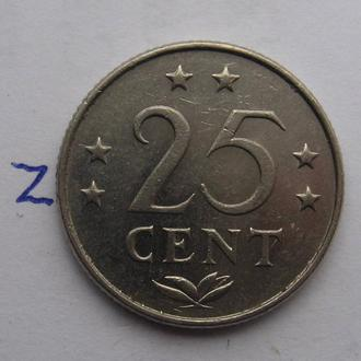 НИДЕРЛАНДСКИЕ АНТИЛЬСКИЕ ОСТРОВА, 25 центов 1978 года.