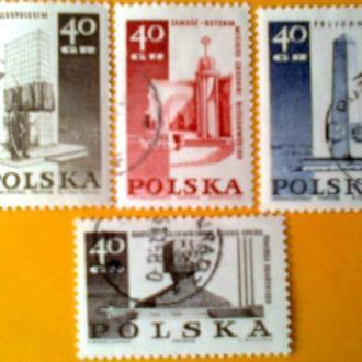 Польша 1968г   Памятники  монументы