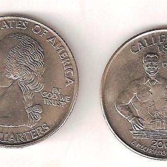 Сувенирная монета 25 Центов California (2005) #3