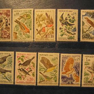 птицы фауна монако monaco 1962  birds на юн т