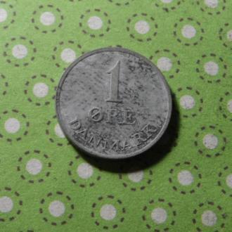 Дания 1969 год монета 1 эре !