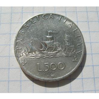 ПАРУСНИК = 500 ЛІР 1958 = ІТАЛІЯ