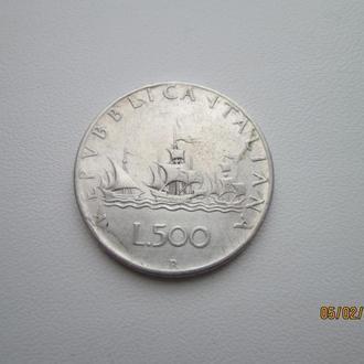 Монета Италия 500лир серебро 2