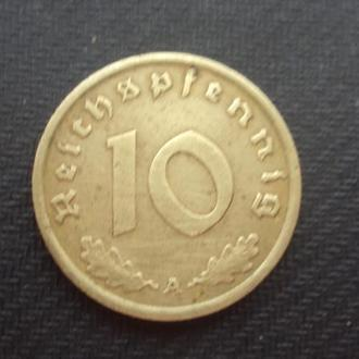 Германия 3-й Рейх 10 рейхспфен. 1938г. A.