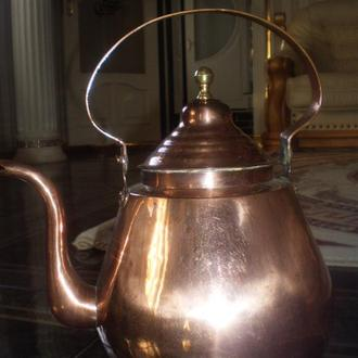 Чайник Коллекционный Медь Клепаный