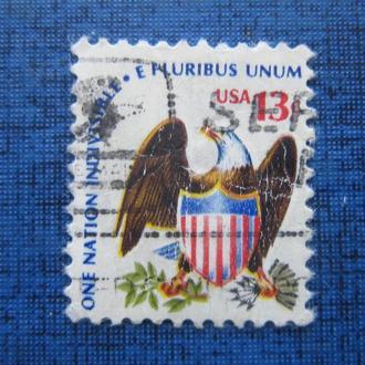 Марка США герб орёл гаш