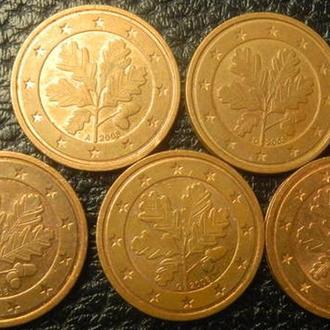 2 євроценти 2008 Німеччина (всі монетні двори)