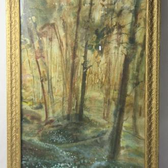 """Шульган А.В. """"Перші лісові квіти"""".  Акварель, бумага. Размеры 69х44 см."""
