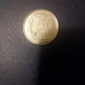 Монета 50 грош 1995года