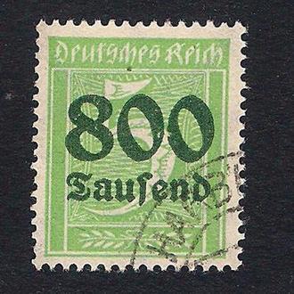 1923 год. Германия. German Empire - Overprinted Stamps. 800 на 5 марок.