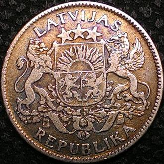 Латвия 1 лат 1924 год СЕРЕБРО!!! СОСТОЯНИЕ!!