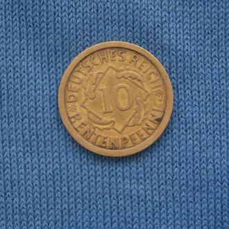 Германия 10 пфеннингов 1924 г  A