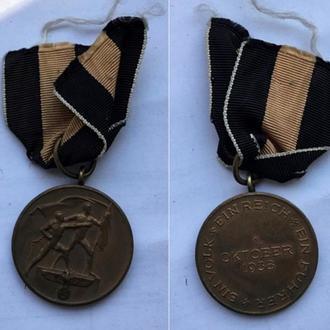 Медаль В память 1 октября 1938 года