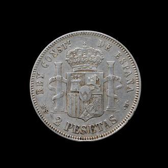 2 Песеты 1883,(25) Испания